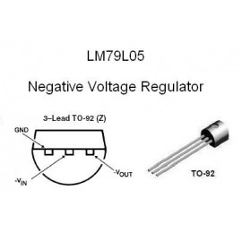 79L05 Negative Linear Volt Regulator (5V 100mA)