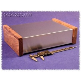 Hammond 1444-24CWW Aluminium Chassis Wood Panels