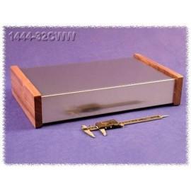 Hammond 1444-32CWW Contenitore in Alluminio Naturale - Fianchi in Legno
