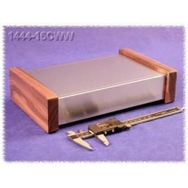 Hammond 1444-16CWW Natural Aluminium Chassis - Wood Sides