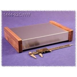 Hammond 1444-22CWW Aluminium Chassis - Wood Sides