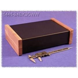 Hammond 1441-24BK3CWW Black Steel Chassis - Wood Sides