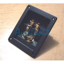 VSC110 BW Biwiring Terminal Plate with 4x ergonomic Binding Post