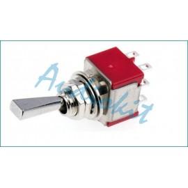 KS201 FLAT Mini Interr/Deviatore doppio 250V 3A