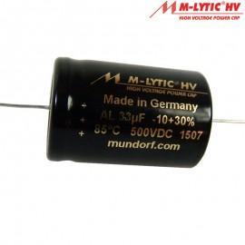 33uf 500 Vdc M-Lytic HV Axial
