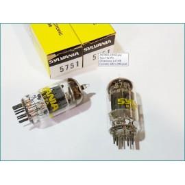 5751 Sylvania USA Pair  NOS-NIB V1-V8