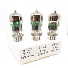 6922 - E88CC JAN SYLVANIA Triplet NOS (v88 - v95 - v103)