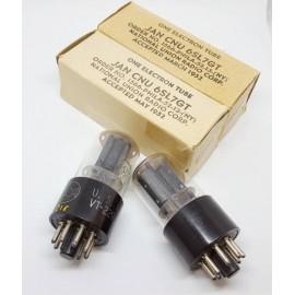 6SL7 GT - VT229 GT JAN- CNU NOS NIB RCA USA Pair Used (v21ES - v22ES)