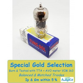 12AU7W- 6189-ECC82 Tung-Sol - 0% SPECIAL SELECTION - Single (v64)