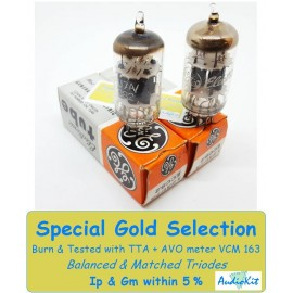 12AU7A - ECC82 General Electric USA NOS-NIB - 2% SPECIAL SELECTION - Coppia (v44 - v47)