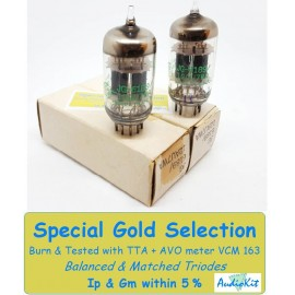 6189 - 12AU7WA JG General Electric USA NOS-NIB - 3% SPECIAL SELECTION - Coppia (v12 - v13)