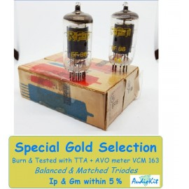 EF86 RFT Germany NOS-NIB - 4,6% SPECIAL GOLD SELECTION Pair (v13 - v16)