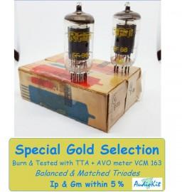 EF86 RFT Germany NOS-NIB - 4,6% SPECIAL GOLD SELECTION Pair (v13 - v16)