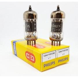 ECC82 - 12AU7 Philips Gf2 (by Mullard) Coppia NOS-NIB (V1-V3)