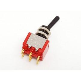 C&K 7201 Black - Gold Mini switch DPST for Signal