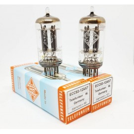 ECC83 - 12AX7 TELEFUNKEN (Smooth plates) Germany Diamond Coppia / Pair NOS (v99 - v101)