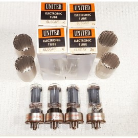 6L6GAY UNITED USA Quartetto NOS-NIB (V15-V17-V18-V20)