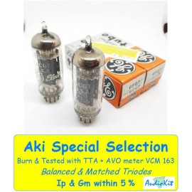 6CG7 - 6FQ7 General Electric  NOS-NIB - 4 % SPECIAL SELECTION - Pair (v34 - v36)
