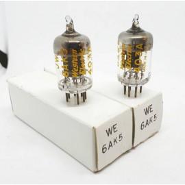 6AK5JW - 403A - EF95 - 5654 Western Electric NOS Coppia (v14 - v22)