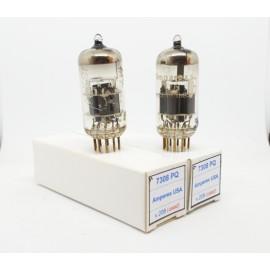 7308 - E188CC AMPEREX PQ USA UOS Gold Pin Coppia Usata  (v208 - v209)