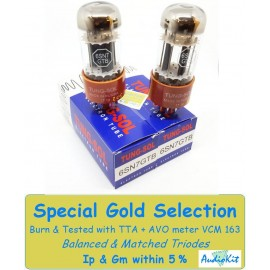 6SN7GTB Tung-Sol - 4% SPECIAL SELECTION - Pair (v232-v234)