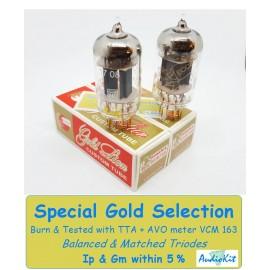 12AX7- ECC83- B759 Genalex Gold - 4% SPECIAL SELECTION - Pair (v575-v576)