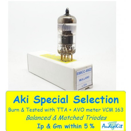 E88CC - 6922 Mullard Pin Gold NOS - 2% SPECIAL SELECT Single Tube (v224)