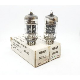 5751 Tripla Mica USAF General Electric USA NOS-NIB 1962 Pair (v46 - v49)