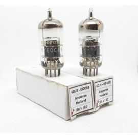 6DJ8 - ECC88 AMPEREX Holland NOS Pair (Bv180 -Bv182)