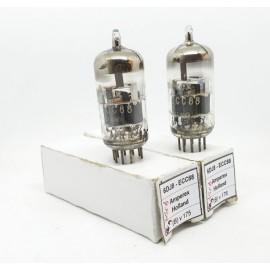 6DJ8 - ECC88 AMPEREX Holland NOS Pair Used (Bv175 -Bv176)