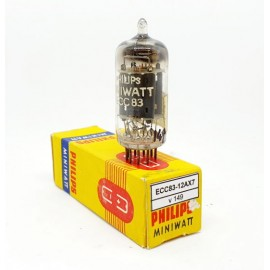 ECC83 - 12AX7 PHILIPS Miniwatt Mc1 NOS 1957 NOS-NIB Single (v149)