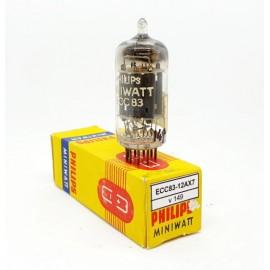 ECC83 - 12AX7 PHILIPS Miniwatt Mc1 NOS 1957 NOS-NIB Singola (v149)