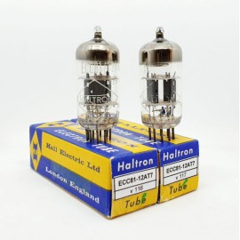 ECC81 - 12AT7 HALTRON (by Siemens) NOS-NIB Pair (v116 - v117)