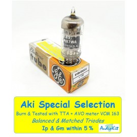 6189 - 12AU7WA General Electric USA NOS-NIB Triple mica - 5% SPECIAL SELECTION - Single (v156)