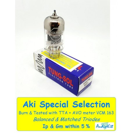 12AT7W- 6201-E81CC Tung-Sol - 3% SPECIAL SELECTION - Single (v36)