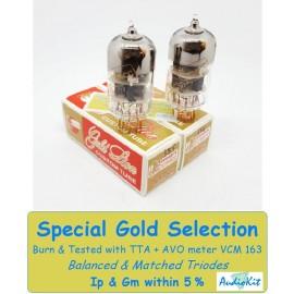 6922- E88CC Genalex Gold - 3% SPECIAL SELECTION - Pair (v434-v436)