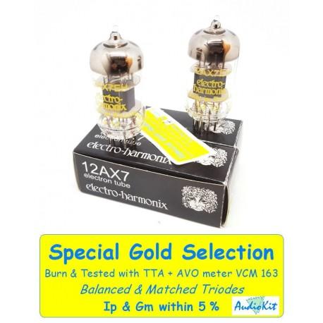12AX7- ECC83 Electro Harmonix - 4% SPECIAL SELECTION - Pair (v502-v506)