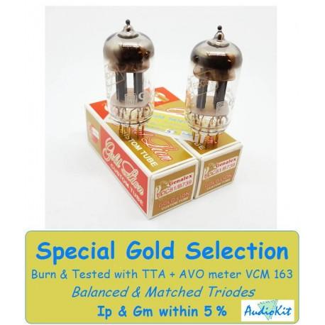 12AT7- ECC81- B739 Genalex Gold - 2% SPECIAL SELECTION - Pair (v159-v162)