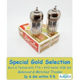 12AU7- ECC82- B749 Genalex Gold Pair 4% SPECIAL SELECTION (v304-V306)