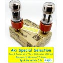 6SN7GT EH GOLD - 4% SPECIAL SELECTION - Pair (v154 - v157)