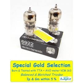 6922- E88CC Electro Harmonix - 5% SPECIAL SELECTION - Pair (v589 - v593)
