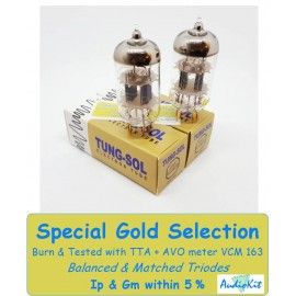 ECC803S-12AX7 Tung-Sol Gold - 3% SPECIAL SELECTION - Pair (v428-v431)