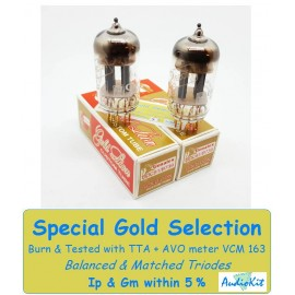 12AT7- ECC81- B739 Genalex Gold - 5% SPECIAL SELECTION - Pair (v167-v171)