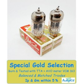 12AU7 - ECC82- B749 Genalex Gold - 4% SPECIAL SELECTION - Pair (v357-v358)