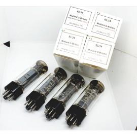 EL34 Mullard Xf3 White Print NOS  Quartet 7% Used (v71 - v72 - v74 - v76)