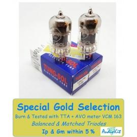 12AU7W-6189-ECC82 Tung-Sol - 5% SPECIAL SELECTION - Pair (v122 - v126)