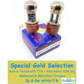 6SN7GTB Tung-Sol - 3% SPECIAL SELECTION - Pair (v268-v272)