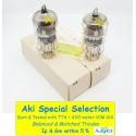 E88CC - 6922 TESLA Sword Gold Pin MIL - NOS - NIB - 5% SPECIAL SELECT  - Pair (v304 - v324)