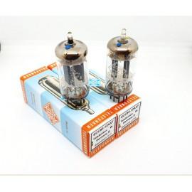 ECC83 - 12AX7 TELEFUNKEN (Smooth plates) Germany Diamond Pair NOS (v215 - v217)