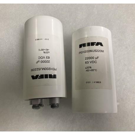 Coppia condensatori RIFA 22000uF/63VDC